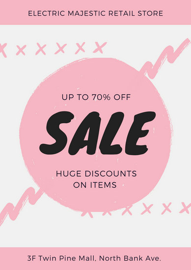Pink Retail Store Sales Poster - Templates by Canva