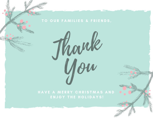Customize 30+ Christmas Thank You Card templates online - Canva