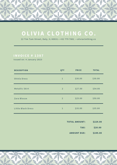 Customize 40+ Business Invoice templates online - Canva