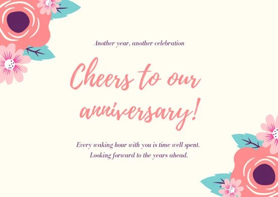 Customize 68+ Anniversary Card templates online - Canva
