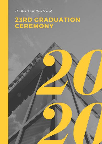 Customize 75+ Graduation Program templates online - Canva