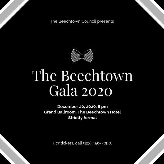 Customize 827+ Black Tie Invitation templates online - Canva