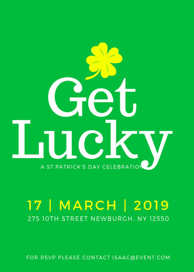 Simple St Patrick\u0027s Day Event Flyer - Templates by Canva