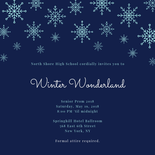 Winter Wonderland Prom Invitation - Templates by Canva