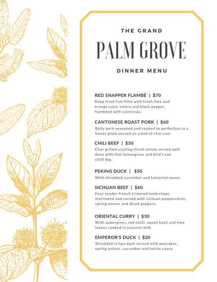 Customize 197+ Dinner Party Menu templates online - Canva