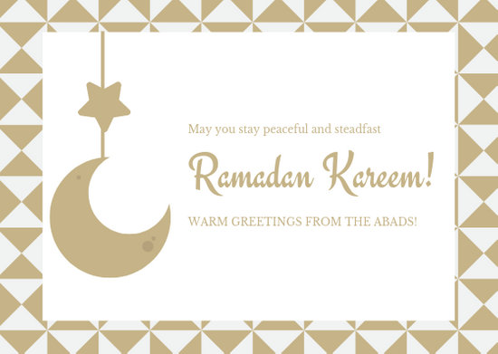 Gold White Ramadan Greeting Card - Templates by Canva