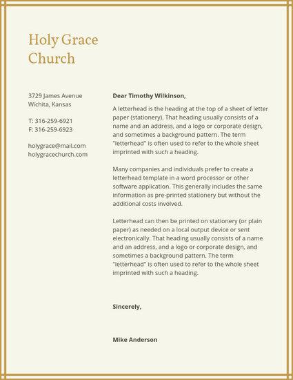 Customize 33+ Church Letterhead templates online - Canva
