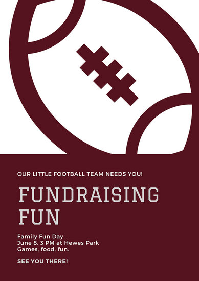 Maroon Sports Fundraising Poster - Templates by Canva
