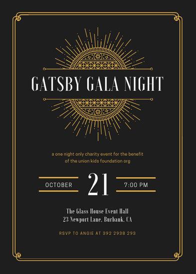 Customize 65+ Great Gatsby Invitation templates online - Canva