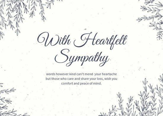 Brown Wreath Sympathy Card - Templates by Canva