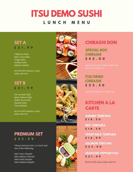Customize 88+ Lunch Menu templates online - Canva