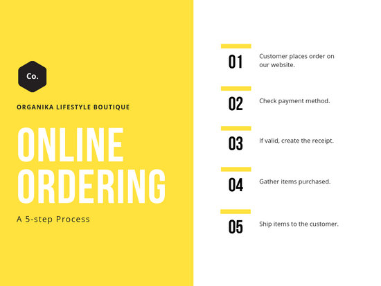 Yellow Simple Process Flow Chart - Templates by Canva