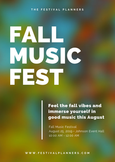 Simple Modern Blurred Fall Festival Flyer - Templates by Canva