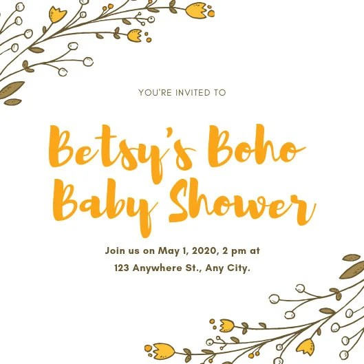 Customize 678+ Baby Shower Invitation templates online - Canva