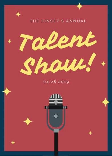 Customize 72+ Talent Show Flyer templates online - Canva