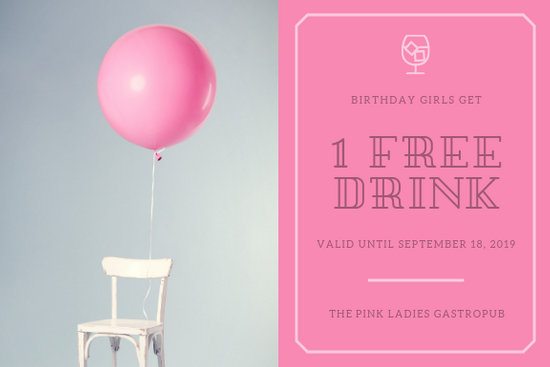 Pink Minimalist Birthday Gift Certificate - Templates by Canva