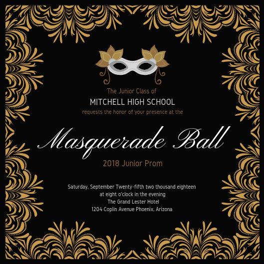 Masquerade Prom Invitation - Templates by Canva