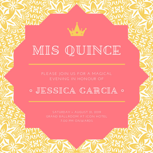 Customize 40+ Quinceanera Invitation templates online - Canva