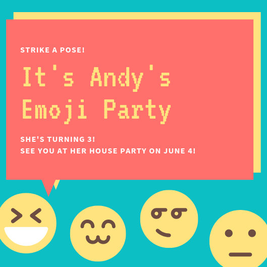 Customize 2,897+ Emoji Party Invitation templates online - Canva