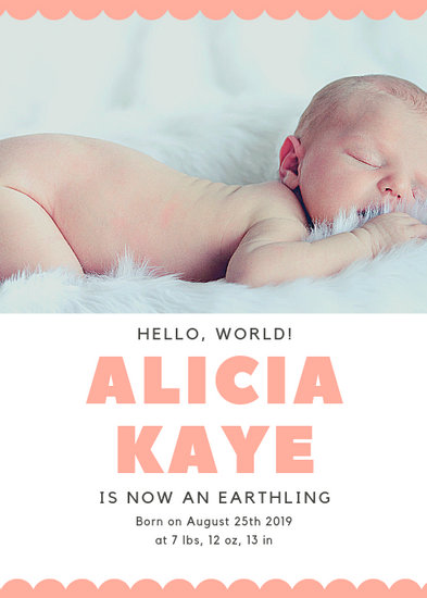 Customize 100+ Birth Announcement templates online - Canva