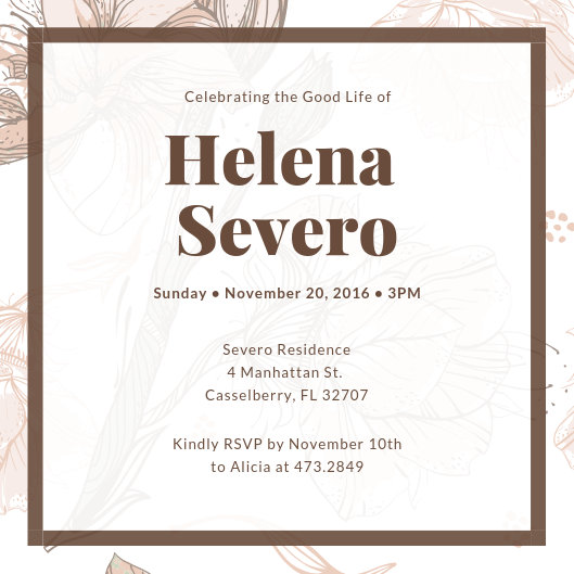 Customize 38+ Funeral Invitation templates online - Canva