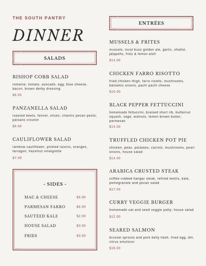 Customize 197+ Dinner Party Menu templates online - Canva
