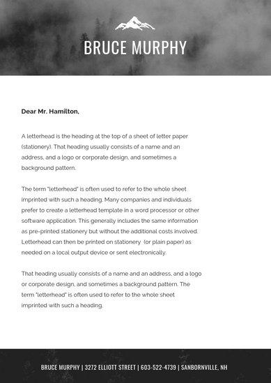 Customize 81+ Personal Letterhead templates online - Canva