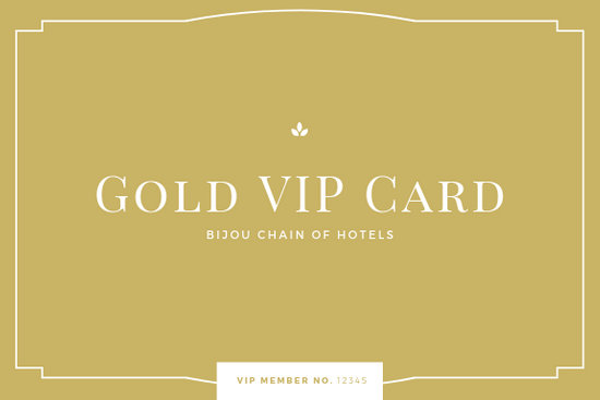 Gold Minimal Classy ID Membership Card - Templates by Canva