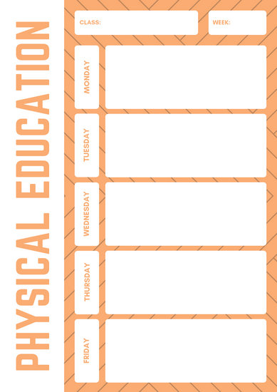 Orange Line Simple Physical Education Lesson Plan - Templates by Canva