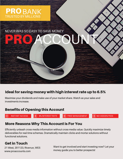 Laptop and Coffee Business Flyer - Templates by Canva
