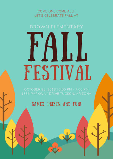 School Fall Festival Flyer - Templates by Canva