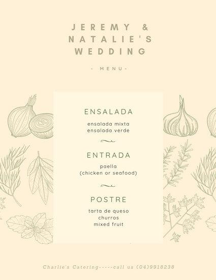 Customize 136+ Wedding Menu templates online - Canva