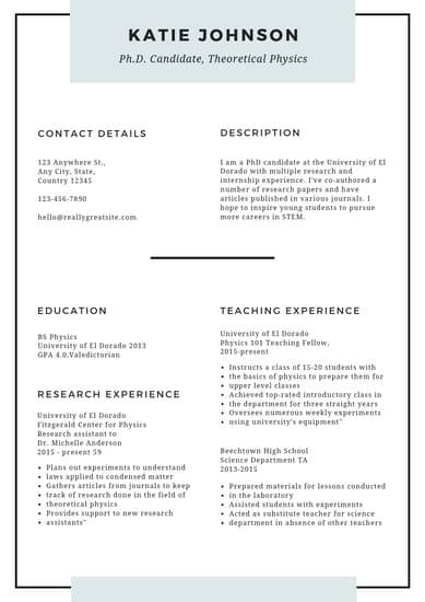 examples of resume for scholarship