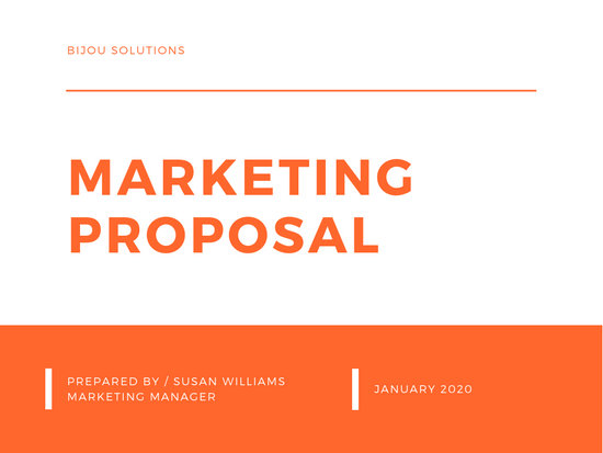 Orange  White Minimal Modern Simple Marketing Proposal Presentation