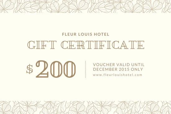 spa certificate template