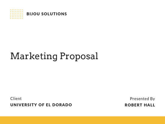 Yellow and Black Marketing Proposal Presentation - Templates by Canva