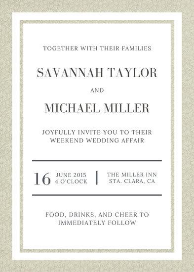 Customize 1,092+ Wedding Invitation templates online - Canva
