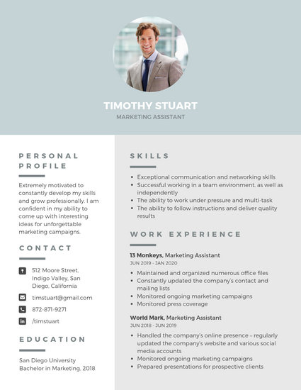 canva photo cv