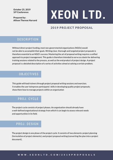 Blue Squares General Proposal - Templates by Canva
