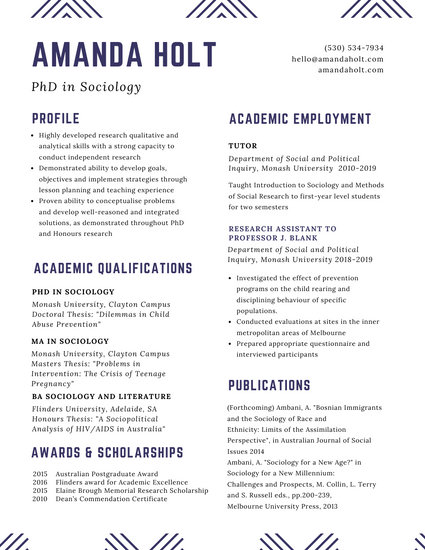White Minimalist Academic Resume - Templates by Canva