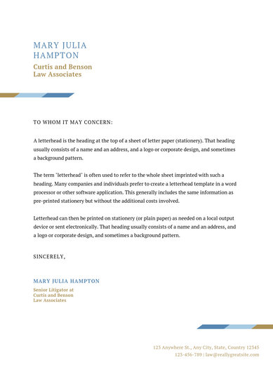 Customize 30+ Law Firm Letterhead templates online - Canva