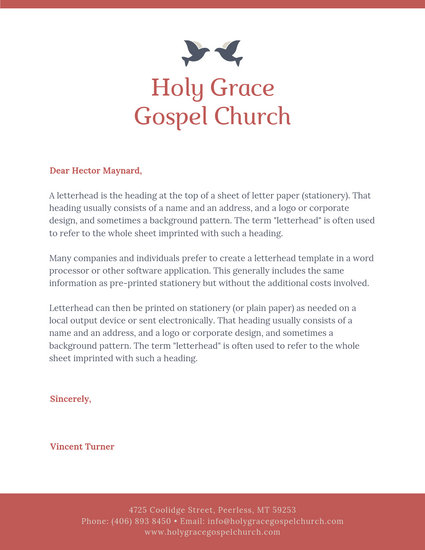 Customize 33+ Church Letterhead templates online - Canva