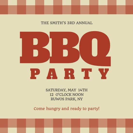 Family BBQ Reunion Invitation - Templates by Canva