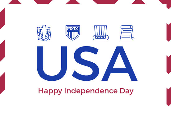 Symbolic Independence Day Greeting Card - Templates by Canva