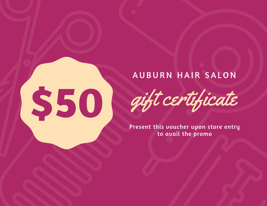 Customize 52+ Hair Salon Gift Certificate templates online - Canva