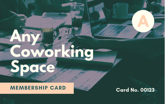 Green Peach Coworking Space Membership ID Card - Templates by Canva