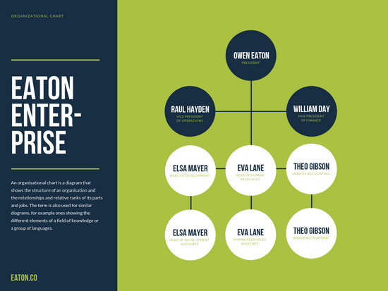 Simple Business Organizational Chart - Templates by Canva