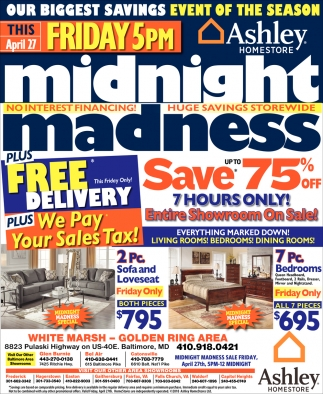 Ashley Furniture Pre Black Friday Sales Midnight Madness Ashley Homestore Baltimore Md