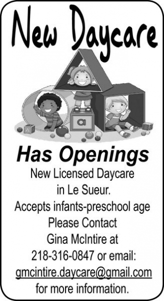 Has Openings, New Daycare