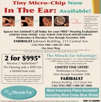 Tiny micro chip miracle ear faribault faribault mn